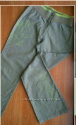 Оливковые брюки MEXX лен хлопок XS подростка обмен