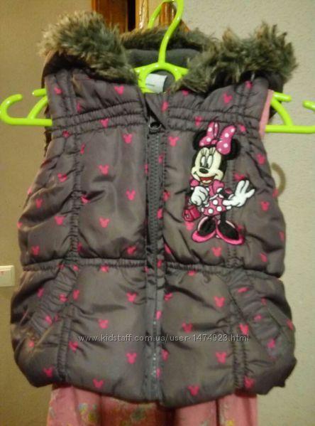 Фирменная теплая жилетка с Минни Маус Disney на 1-1, 5 года