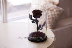 Роза в колбе черная