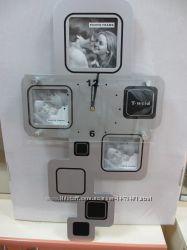 Стильные настенные часы с фоторамками для Вашего дома