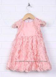 Красивое, нарядное нежное розовое платье на утренник, на праздник