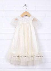 Нарядное красивое белое платье для девочки, на свадьбу, праздник