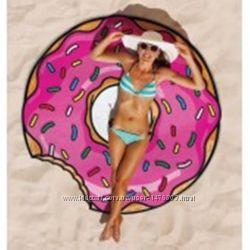 Полотенце покрывало пончик