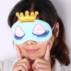 Маска для сна королева голубого цвета