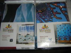 Штора шторка в ванную комнату тканевая Миранда производство Турция