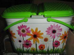Пластиковая корзина с рисунком