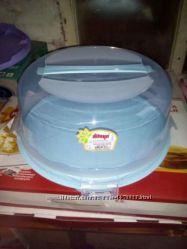 Тортовница тортница с крышкой круглая новая, производство Турция
