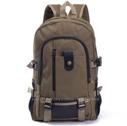 Рюкзак кэжуал городской женский мужской школьный коричневый