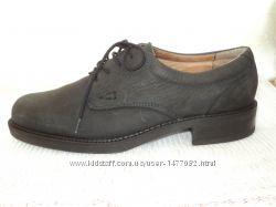 Итальянские туфли темно-графитового цвета, кожа-нубук   38 р    24, 8 см