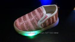 Макасины Шалунишка со светодиодной LED подсветкой подошвы