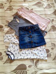 Блузы и джинсовая юбка