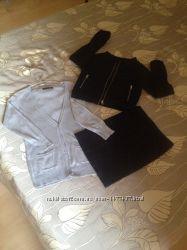 Стильные пиджак и юбка, кардиган в подарок
