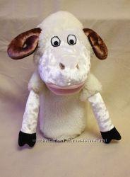 Кукольный театр игрушка на руку перчатка овечка, баран с открывающимся ртом