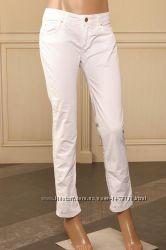 sm Легкие белые летние натуральные итальянские штанишки Pianurastudio