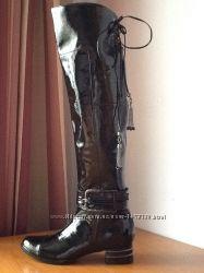 бесплатно перешлю супер Mara оригинал итальянские ботфорты сапоги кожа лак
