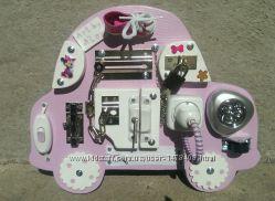 яркий бизиборд для девочки