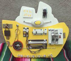 Бизиборд, игрушка-тренажер для ребенка.