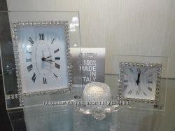Часы настольные CTF с камнями Swarovski Италия  оригинал