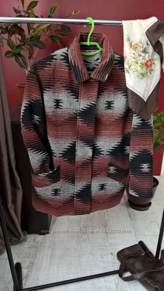 Мега стильное пальто-коконстиль бойфрендаот Mangoобъемное-S-ка