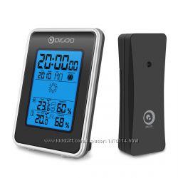 Метеостанция с беспроводным датчиком с подсветкой, гигрометр термометр часы