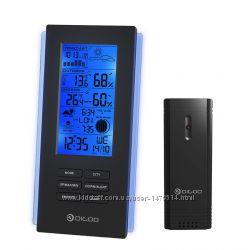 Метеостанция термометр-гигрометр-барометр с подсветкой, питание USB