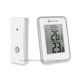Термометр с беспроводным датчиком, часы