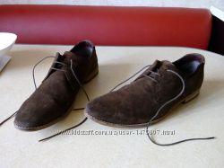 Шикарные мужские  Замшевые туфли. Made in India. 43р. стелька 30
