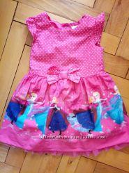 Нарядное платье Джордж Дисней Фроузен, 1-2 года, отл. сост. замеры внутри