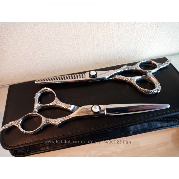 Профессиональные парикмахерские ножницы SНАRОNDS 6 с тиснением  -в наличии-