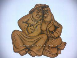 Фигурка глиняная Супруги или кум кума для декораций и Hand Made работ