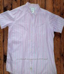 Рубашка мужская короткий рукав тенниска размер XL 100 хлопок