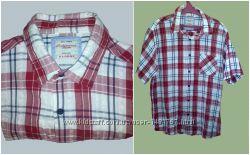 Рубашка мужская короткий рукав тенниска размер XL , 100 cotton тонкая