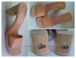 Летняя кожаная женская обувь мюли сабо шлёпанцы, 290 грн. Женские ... e33a29fc2b6