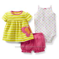 Летние комплекты костюмы Carters для девочек