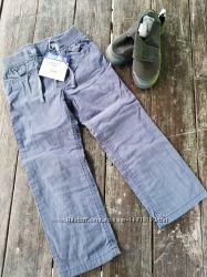 Котоновые штаны на подкладе Lupilu на рост 104