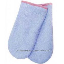 Махровые варежки, носочки для парафинотерапии