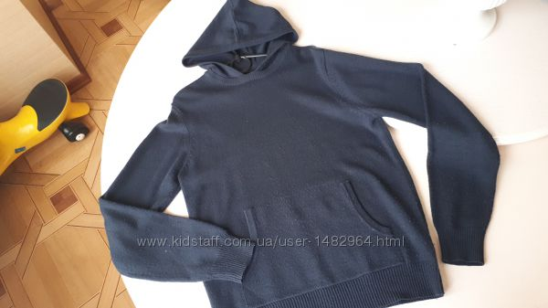 Свитер с капюшоном Terranova, XL, синий, кофта, толстовка
