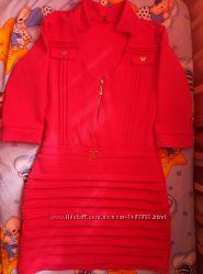 нарядное караловое платье