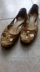Кожаные балетки 37 размер
