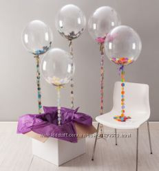 Конфетти метафан серпантин для воздушных шаров шарики прозрачные