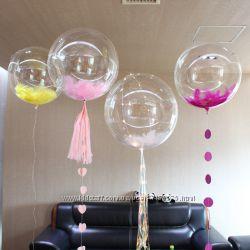 Прозрачные шары Deco Bubbles баблз пузырь пластиковые шарики баблсы