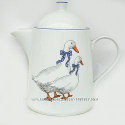 Фарфоровый Кофейник 1, 2л Opty Wawel Гуси