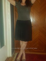 черная хлопок лен юбка Gap, размер EU 38, USA 4 наш 46