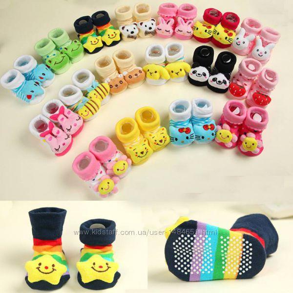 Носочки для младенцев, новорожденных с мордочками, зверюшки на носках