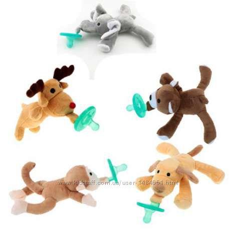 Соска пустышка с мягкой игрушкой для младенцев 0-6 мес пустушка
