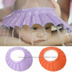 Козырек для мытья головы купания без слез мягкий на кнопках для ванной