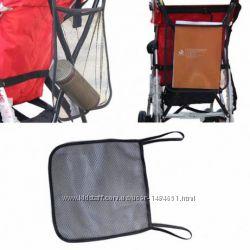 Сетка сумка на коляску для игрушек на ручку коляски сітка торбинка