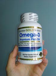 Омега 3, California Gold Nutrition, 100 Капс, США