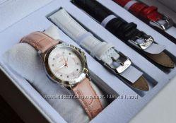 Женские часы с бриллиантами Invicta Angel, набор с ремешками.