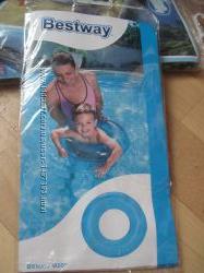 Новый круг надувной для плавания на 3-6 лет, синий